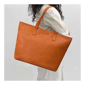 7ca9c7e000 DailyObjects Tan Faux Leather Fatty Women s Tote Bag