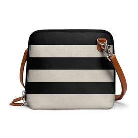 85fe87c95d DailyObjects Vintage Black Stripes - Trapeze Crossbody Bag