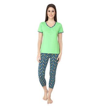 e510bb532fefa2 S.O.I.E Comfortable Night Suit - Green at Nykaa.com