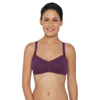 e2097cbd441 S.O.I.E Women s Non-Padded Non-Wired Full Coverage Bra - Purple (40C)(40C)