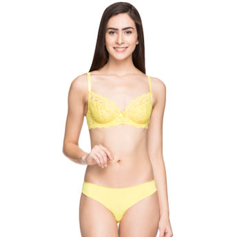 41bb244a85942 Home  Candyskin Unlined Demi Bra With Seamless with Lace Panty Set -  Yellow. Wristwatch by Ted Baker London