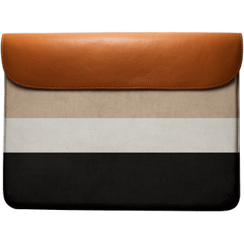 26e9ca3f369bd2 Dailyobjects Natural Cream And Black Real Leather Envelope Sleeve ...