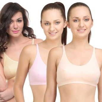 321ba8a2d8 Bodycare Sports Bra In Peach-Pink-Skin Color - Pack Of 3 at nykaa.com