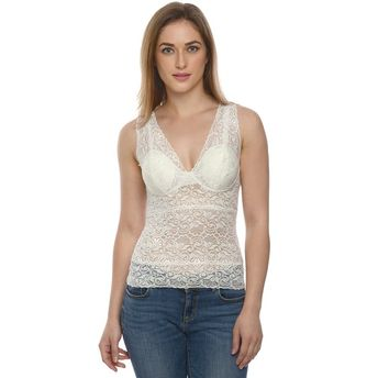 Da Intimo White Sexy Lace Padded Camisole at Nykaa.com 911ed3053