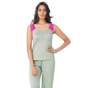 f9d316c861 PrettySecrets Sets - Buy Pretty Secrets Cotton Top and PJ Set Green ...