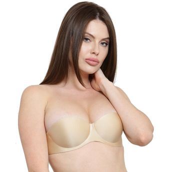 7e76fda0556 N-Gal 2 Way Convertible Dual Strap Beige Deep Push Up Bra at Nykaa.com