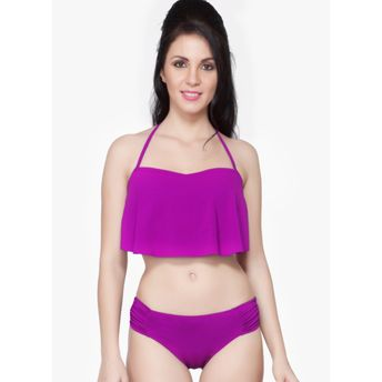 bab66721c6 Nidhi Munim India Purple Flouncy Bikini Set at nykaa.com