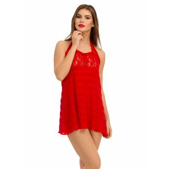 Clovia Babydoll - Buy Clovia Halter Neck String Back Babydoll - Red ... c3b4c59c2
