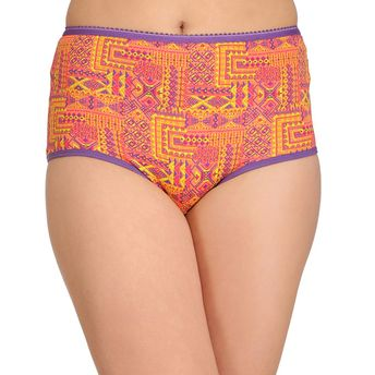 0bcf564e3ce Clovia Cotton High Waist Printed Hipster Panty - Multi-Color at ...