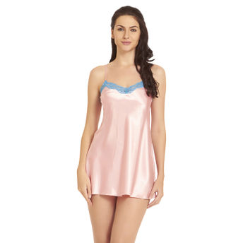 f2c02c5728 Buy Blush Pink Satin Babydoll at Nykaa.com