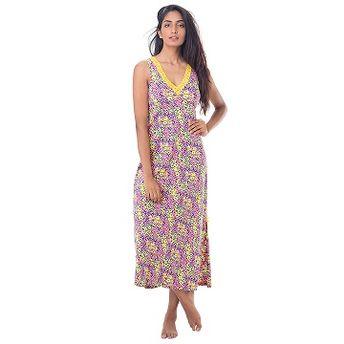 92f5a49c37 Buy PrettySecrets Cotton Lace-Trim Sleeveless Nightdress - Pink ...