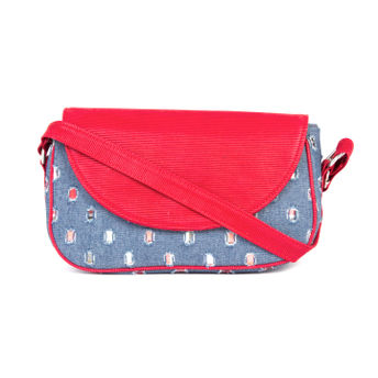 a2035b5e6b2a Rysha Blue   Red Self Design Crossbody Sling Bag at Nykaa.com