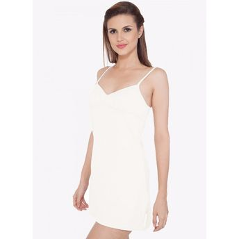 ed646924b23a40 S.O.I.E Women s Cotton Spandex Long Camisole - White at Nykaa.com