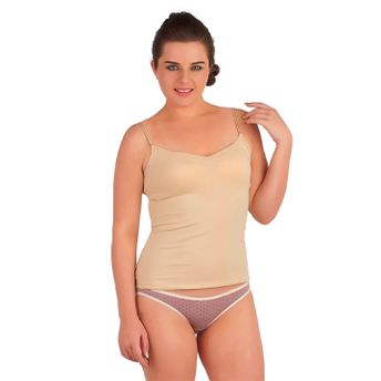 080d2c86c8e49 S.O.I.E Cami With Built In Bra   Detachable Straps - Beige at Nykaa.com