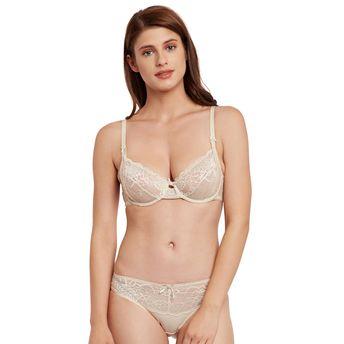 056cf7130b Secrett Curves Peony Lace Full Coverage Underwired Non Padded Bra ...