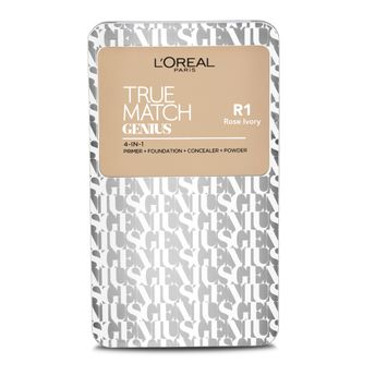L'Oreal Paris True Match Genius 4-In-1 Compact Foundation - Rose Ivory R1 (7gm)