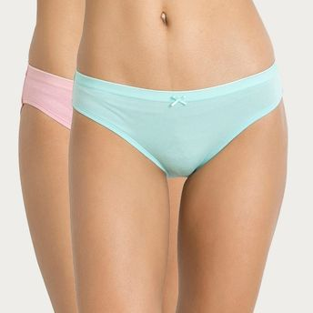 a91996e9a7ce Zivame Mid Rise Hipster Panty Pack Of 2- Aqua Blue N Pink at Nykaa.com