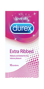 Durex Extra Ribbed Condoms