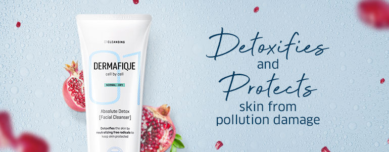 Detoxifies and protects skin from pollution damage