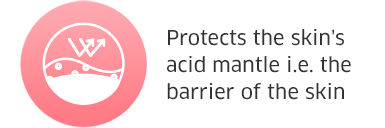 Protects the skins acid mantle i.e the barrier of the skin
