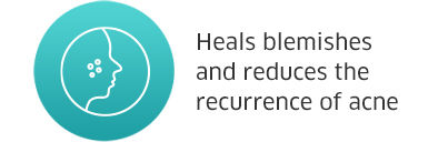 Heals blemishes and reduces the recurrence of acne