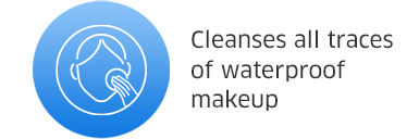 cleanses all traces of waterproof makeup