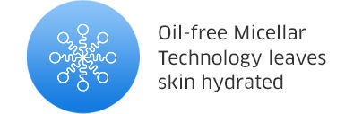 Oil-free Micellar Technology leaves skin hydrated