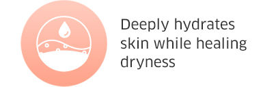 Deeply hydrates skin while healing dryness