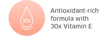 Antioxidant-rich formula with 30x Vitamin E