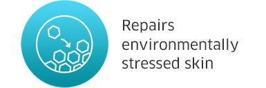 Repairs environmeantally stressed skin