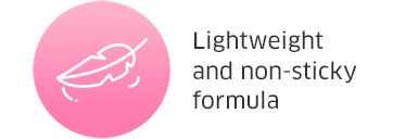 Lightweight and non-sticky formula