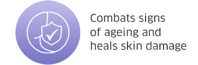 Combats signs of ageing and heals skin damage