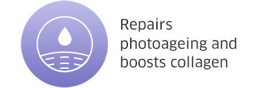 Repairs photoageing and boosts collagen