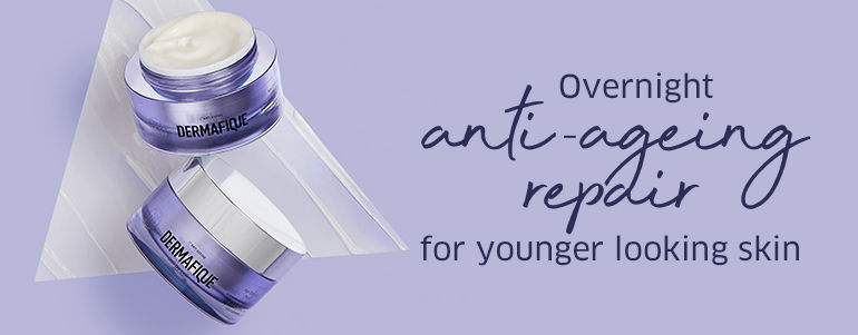 Overnight nti-aging repair for younger looking skin